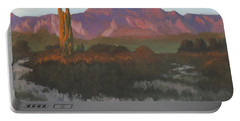 Desert Sunset Glow - Art By Bill Tomsa Portable Battery Charger
