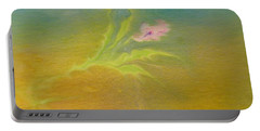 Portable Battery Charger featuring the painting Desert Flower by Mike Breau