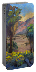 Desert Marigolds At Andreas Canyon Portable Battery Charger