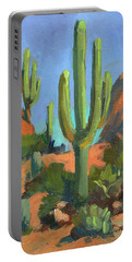 Desert Morning Saguaro Portable Battery Charger