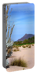 Portable Battery Charger featuring the photograph Desert Mountain by Mike Ste Marie