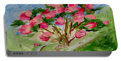 Desert Rose Abstract Portable Battery Charger