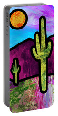 Desert Stained Glass Portable Battery Charger
