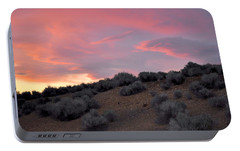 Portable Battery Charger featuring the photograph Desert Sunset by AJ  Schibig