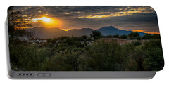 Portable Battery Charger featuring the photograph Desert Sunset by Dan McManus