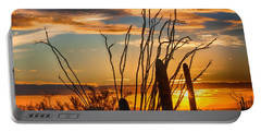 Desert Sunset Portable Battery Charger by Fred Larson
