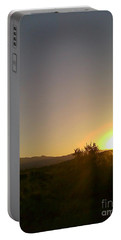 Desert Sunset Portable Battery Charger by Fred Wilson