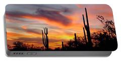 Desert Sunset Portable Battery Charger by Joseph Baril