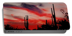 Desert Sunset Northern Lights Version 3 Portable Battery Charger by Joseph Baril
