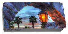 Desert Sunset View Portable Battery Charger