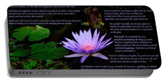 Portable Battery Charger featuring the photograph Desiderata 2 by Greg Norrell