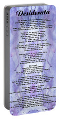 Desiderata 3 - Words Of Wisdom Portable Battery Charger
