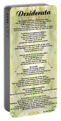 Desiderata 5 - Words Of Wisdom Portable Battery Charger