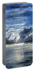 Desiderata 7 - Inspirational Art By Sharon Cummings Portable Battery Charger