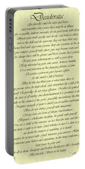 Desiderata Gold Bond Scrolled Portable Battery Charger
