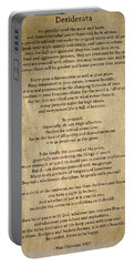 Desiderata - Scrubbed Metal Portable Battery Charger