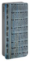 Desiderata 14 Portable Battery Charger