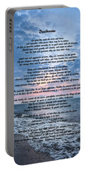 Desiderata Wisdom Portable Battery Charger by Dale Kincaid