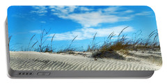 Portable Battery Charger featuring the photograph Designs In Sand And Clouds by Gary Slawsky
