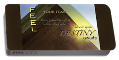 Your Destiny Waits Portable Battery Charger by Mark David Gerson