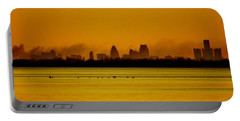 Detroit At Dawn Portable Battery Charger