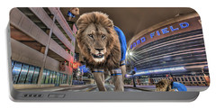 Detroit Lions At Ford Field Portable Battery Charger