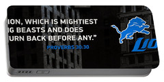 Detroit Lions Football Portable Battery Charger