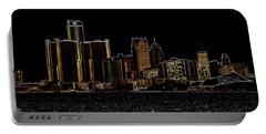 Detroit Skyline Portable Battery Charger