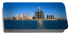 Detroit,michigan Skyline Portable Battery Charger