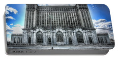 Detroit's Abandoned Michigan Central Train Station Depot Portable Battery Charger by Gordon Dean II