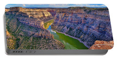 Portable Battery Charger featuring the photograph Devil's Canyon Overlook by Greg Norrell