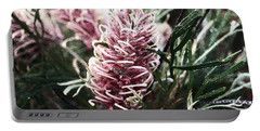 Dew Covered Grevillea Portable Battery Charger