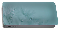 Dew Drops On Dandelion Seeds Portable Battery Charger