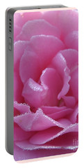Dew Kissed Rose Portable Battery Charger