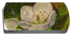 Dew Of Pear's Blooms Portable Battery Charger