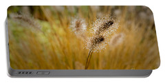 Dew On Ornamental Grass No. 4 Portable Battery Charger