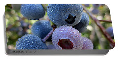 Dewy Blueberries Portable Battery Charger by MTBobbins Photography