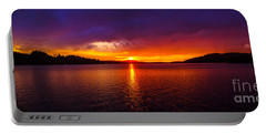 Dexter Lake Oregon Sunset 2 Portable Battery Charger