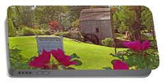 Portable Battery Charger featuring the photograph Dexters Grist Mill Two by Barbara McDevitt