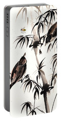 Portable Battery Charger featuring the painting Dibs by Bill Searle