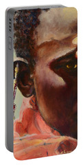 Portable Battery Charger featuring the painting Dignity by Sher Nasser