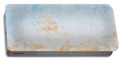 Dilapidated Beige And Blue Wall Texture Portable Battery Charger