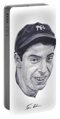 Portable Battery Charger featuring the painting Dimaggio by Tamir Barkan