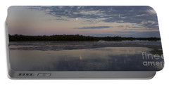 Portable Battery Charger featuring the photograph Ding Darling And Moon - 16x42 by J L Woody Wooden