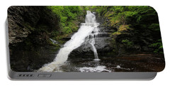 Dingmans Falls Portable Battery Charger by Trina  Ansel