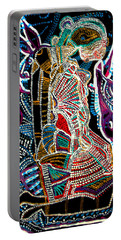 Portable Battery Charger featuring the painting Dinka Bride by Gloria Ssali