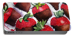 Dipped Strawberries Portable Battery Charger