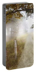 Dirt Road In Fog Portable Battery Charger