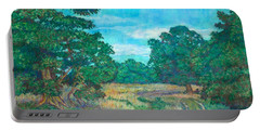 Portable Battery Charger featuring the painting Dirt Road Near Rock Castle Gorge by Kendall Kessler