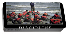 Discipline Inspirational Quote Portable Battery Charger by Stocktrek Images